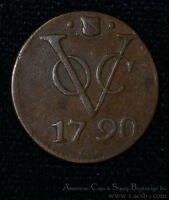 NETHERLANDS EAST INDIES 1 DUIT 1790 COPPER KM111.1 UNITED EAST INDIA COMPANY.