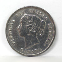 1888 CANADA   5 CENT SILVER KM 2 VICTORIA CLEANED   F 01264300G