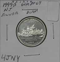 1999 S STATE QUARTER PF NEW JERSEY SILVER