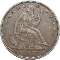 1877 S SEATED HALF DOLLAR  NICE SOLID HIGH GRADE COIN
