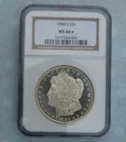 1880 S NGC MS66 STAR MORGAN DOLLAR FROSTY OBVERSE MS66 STAR COIN LOOKS PL
