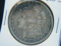1883 S $1 MORGAN SILVER DOLLAR SEMI KEY DATE NICE DETAIL SAN FRANCISCO CLEANED