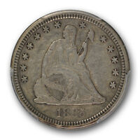 1885 25C LIBERTY SEATED QUARTER PCGS XF 40 EXTRA FINE CAC APPROVED KEY DATE