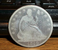 1849 P SEATED LIBERTY HALF DOLLAR NICE 50 CENTS