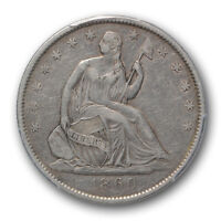 1860 O 50C LIBERTY SEATED HALF DOLLAR PCGS XF 40 EXTRA FINE CAC APPROVED