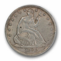 1868 S 50C LIBERTY SEATED HALF DOLLAR PCGS AU 55 ABOUT UNCIRCULATED TO MS