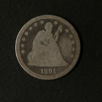 1891 P SEATED LIBERTY QUARTER GREAT DEALS FROM THE TECC BARGAIN BIN