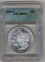 1880 S MORGAN ICG MS 63 SEE PROMOTION