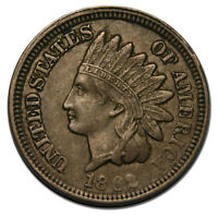 1862 ONE CENT INDIAN HEAD PENNY COIN LOT MZ 1330