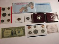 US COIN CURRENCY SALE LOT MINT 90 SILVER PROOF 1935 SILVER CERT NOTE   159