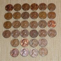 LOT OF 32 LINCOLN CENTS   24 1970 D  8 1970 S