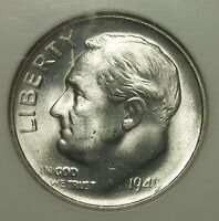 NGC MS66 1949 S ROOSEVELT SILVER DIME    C2552