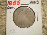 1855 SEATED LIBERTY HALF DOLLAR/ ARROWS/ WELL LOVED
