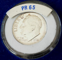 1962 D PROOF ROOSEVELT SILVER DIME   AMERICAN 10 CENTS   PR65
