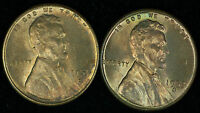 PAIR OF 1950 S & 1953 S LINCOLN CENTS IN NICE RED & RED BROWN UNC CONDITION