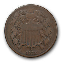 1872 2C TWO CENT PIECE  FINE VF KEY DATE LOW MINTAGE COIN R140