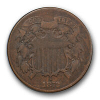 1872 2C TWO CENT PIECE FINE TO  FINE KEY DATE LOW MINTAGE COIN R141