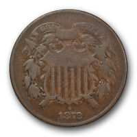 1872 2C TWO CENT PIECE FINE TO  FINE KEY DATE LOW MINTAGE COIN R142