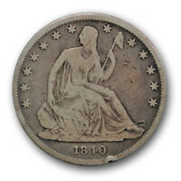 1840 O 50C REVERSE OF 1838 LIBERTY SEATED HALF DOLLAR GOOD VG R300