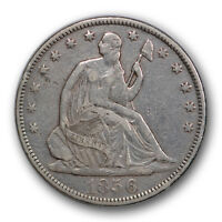 1856 S 50C LIBERTY SEATED HALF DOLLAR FINE TO EXTRA FINE DETAILS R319