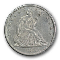 1877 CC 50C LIBERTY SEATED HALF DOLLAR ABOUT UNCIRCULATED R346