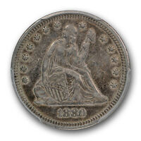 1880 LIBERTY SEATED QUARTER PCGS XF 45 EXTRA FINE TO AU KEY DATE COIN
