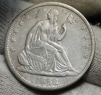1868S SEATED LIBERTY HALF DOLLAR 50 CENTS. SEMI KEY DATE  4215