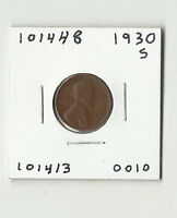 1930 S LINCOLN WHEAT CENT -  101448