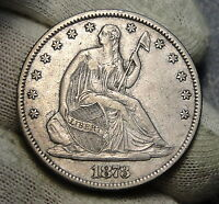 1873 SEATED LIBERTY HALF DOLLAR 50C   NO ARROWS KEY DATE 801,200 MINTED 4330