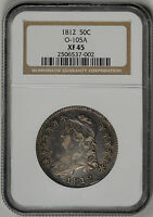 1812  50C  NGC  XF45  CAPPED BUST HALF    O 105A    2506537 002