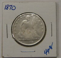 1870   LIBERTY SEATED HALF DOLLAR
