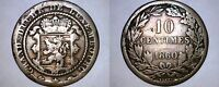 1860 A LUXEMBOURG 10 CENTIMES WORLD COIN