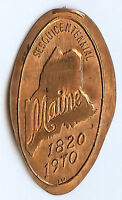 MAINE ELONGATED PENNY   WAGAMAN ROLLED IN 1970