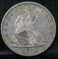 1850 O SEATED LIBERTY 50C HALF DOLLAR ID TT780