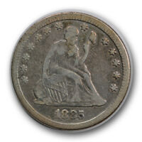 1885 25C LIBERTY SEATED QUARTER FINE F LOW MINTAGE R621