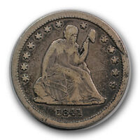 1841 25C LIBERTY SEATED QUARTER FINE TO EXTRA FINE R696