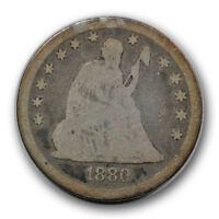 1880 25C LIBERTY SEATED QUARTER GOOD G LOW MINTAGE TOUGH R702
