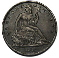 1841O SEATED SILVER LIBERTY HALF DOLLAR 50 COIN LOT MZ 2185