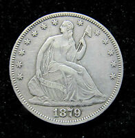 1879 SEATED LIBERTY HALF DOLLAR.ONLY 4800 MINTED.
