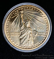 1776 1976 NATIONAL BICENTENNIAL MEDAL STATUE OF LIBERTY CASE & COA AS ISSUED.