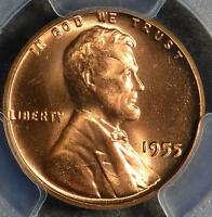 1955 PCGS MS66 RD LINCOLN CENT PQ UNCIRCULATED 1C WHEAT PENNY 462 PLUS GRADED