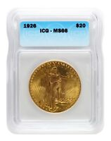 1926 ICG MS66 $20 SAINT GAUDENS DOUBLE EAGLE