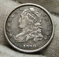 1830 CAPPED BUST DIME 10 CENTS   NICE COIN  4758