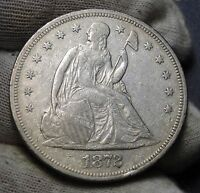 1872 $1 LIBERTY SEATED DOLLAR   NICE COIN  4648