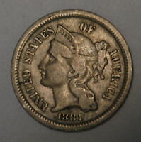 G11881 THREE CENT LIBERTY NICKEL IN F CONDITION