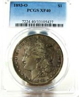 1893-O MORGAN  PCGS EXTRA FINE 40   GENUINE RARITY   ONLY 300K STRUCK