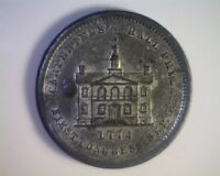 1774 FIRST CONGRESS UNION PACIFIC TEA MEDAL OR TRADE TOKEN PROOFLIKE WHITE METAL