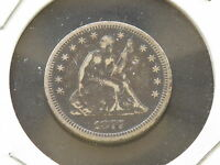 1877 LIBERTY SEATED QUARTER SILVER TYPE US COIN A9759