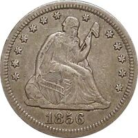 1856 O SEATED QUARTER  NICE ORIGINAL EXTRA FINE