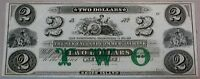 1800 'S CH CU $2 RHODE ISLAND OBSOLETE TWO DOLLAR US BANK NOTE CURRENCY